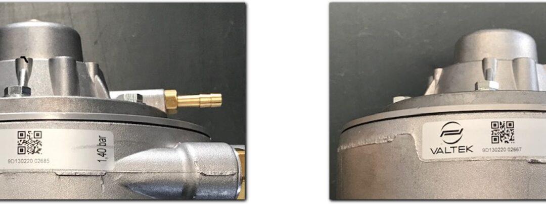 Il riduttore tipo 65 della ditta VALTEK ha un nuovo contrassegno