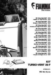 Manuale d'installazione- e istruzioni del Kit Turbo-Vent 28 F