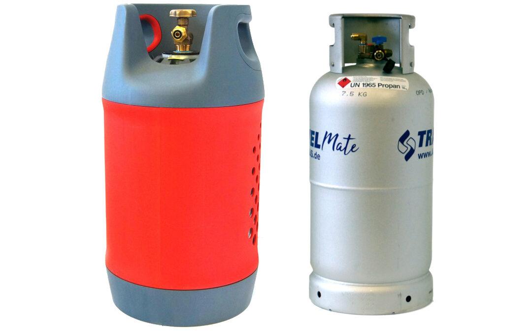 Gastankflaschen aus Komposit & Aluminium